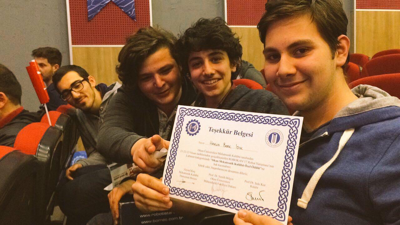 Geleceğin mucitleri Okan Üniversitesi Robokan yarışmasına katıldı.